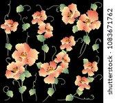 japanese style flower...   Shutterstock .eps vector #1083671762