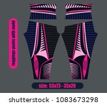 leggings pants fashion... | Shutterstock .eps vector #1083673298