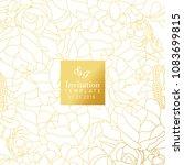 white and gold invitation design | Shutterstock .eps vector #1083699815