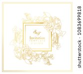 Stock vector white and gold invitation design 1083699818