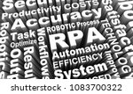 rpa robotic process automation... | Shutterstock . vector #1083700322