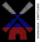 halftone wind mill pictogram... | Shutterstock .eps vector #1083711602