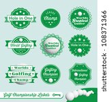 vector set  golf championship... | Shutterstock .eps vector #108371366