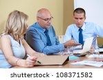 business team during meeting ... | Shutterstock . vector #108371582