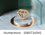 golden diamond icon on the... | Shutterstock . vector #1083716342
