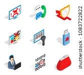 social environment icons set....