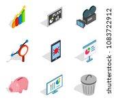 darknet icons set. isometric...