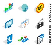 www age icons set. isometric...