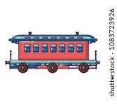 old fashion passenger wagon... | Shutterstock .eps vector #1083723926