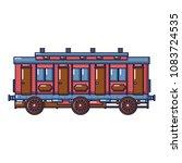 medieval passenger wagon icon....   Shutterstock .eps vector #1083724535