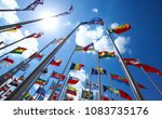 flags of all nations of the... | Shutterstock . vector #1083735176