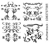 decorative monograms and... | Shutterstock .eps vector #1083737585