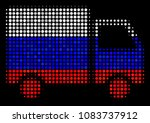 halftone shipment van icon... | Shutterstock .eps vector #1083737912