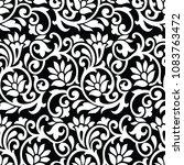 seamless vector floral wallpaper | Shutterstock .eps vector #1083763472