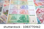 banknotes of zimbabwe after... | Shutterstock . vector #1083770462