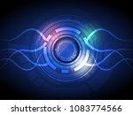 vector abstract hi tech energy... | Shutterstock .eps vector #1083774566