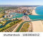 aerial view of luxurious and... | Shutterstock . vector #1083806012