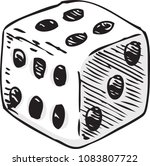 white dice with black dots.... | Shutterstock .eps vector #1083807722