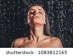 sexy woman in shower.... | Shutterstock . vector #1083812165