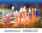 Colorful Candles On  Birthday...