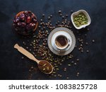 black coffee with cardamom and... | Shutterstock . vector #1083825728