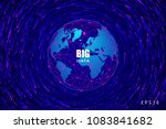 abstract world map consisting... | Shutterstock .eps vector #1083841682