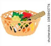 vector illustration wicker... | Shutterstock .eps vector #1083843776