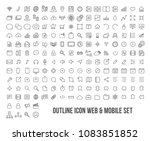outline icon set web and mobile ...