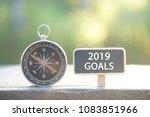 conceptual 2019 goals | Shutterstock . vector #1083851966