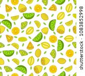seamless background with lemons | Shutterstock .eps vector #1083852998