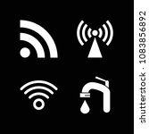 set of 4 signal filled icons...   Shutterstock .eps vector #1083856892