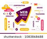 vector creative color... | Shutterstock .eps vector #1083868688