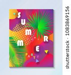 hello summer tropical abstract... | Shutterstock .eps vector #1083869156