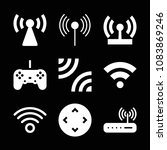 set of 9 wireless filled icons... | Shutterstock .eps vector #1083869246
