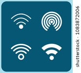 set of 4 signal filled icons... | Shutterstock .eps vector #1083872006