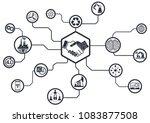 industry 4.0 concept smart... | Shutterstock .eps vector #1083877508