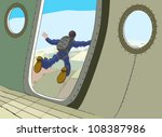 skydiving jump from the plane | Shutterstock .eps vector #108387986