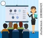 women are present in front of... | Shutterstock . vector #1083882425
