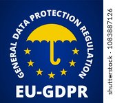 eu gdpr label illustration | Shutterstock .eps vector #1083887126