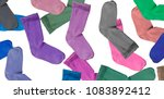 the lost sock mystery  many... | Shutterstock . vector #1083892412