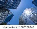 up view of modern office... | Shutterstock . vector #1083900242