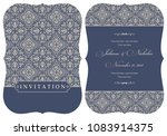 wedding  invitation  with... | Shutterstock .eps vector #1083914375
