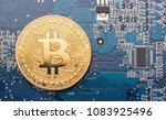 cryptocurrency bitcoin on a... | Shutterstock . vector #1083925496
