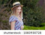 portrait of young beautiful... | Shutterstock . vector #1083930728