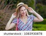 portrait of young beautiful... | Shutterstock . vector #1083930878