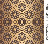 vector arabesque pattern.... | Shutterstock .eps vector #1083931832