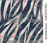 seamless abstract pattern of... | Shutterstock . vector #1083931982