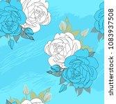soft blue pattern for summer...   Shutterstock .eps vector #1083937508