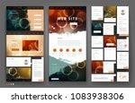 website template design with... | Shutterstock .eps vector #1083938306