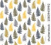 fern frond herbs  tropical... | Shutterstock .eps vector #1083945992